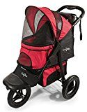 Gen7Pets G7 Jogger Pet Stroller for Dogs or Cats Up to 75 lb Pathfinder Red