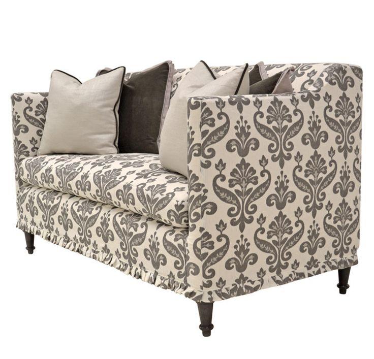 Quatrine Furniture   Antoinette Slipcovered Loveseat