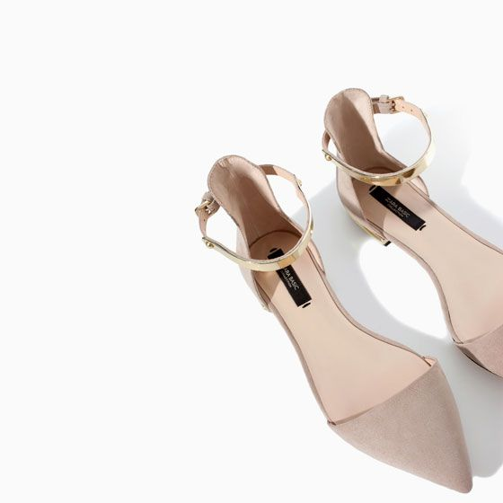 POINTY SHOES WITH ANKLE STRAP from Zara