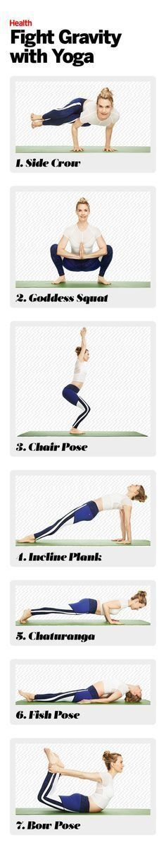Stop the southern drift with this targeted anti-aging yoga workout that helps shore up your weak spots.