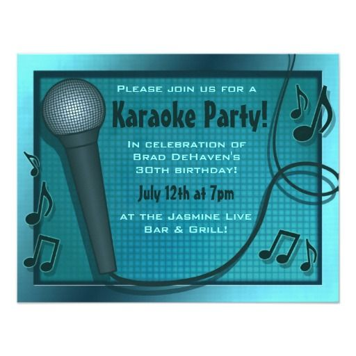 347 Best Karaoke Birthday Party Invitations Images On