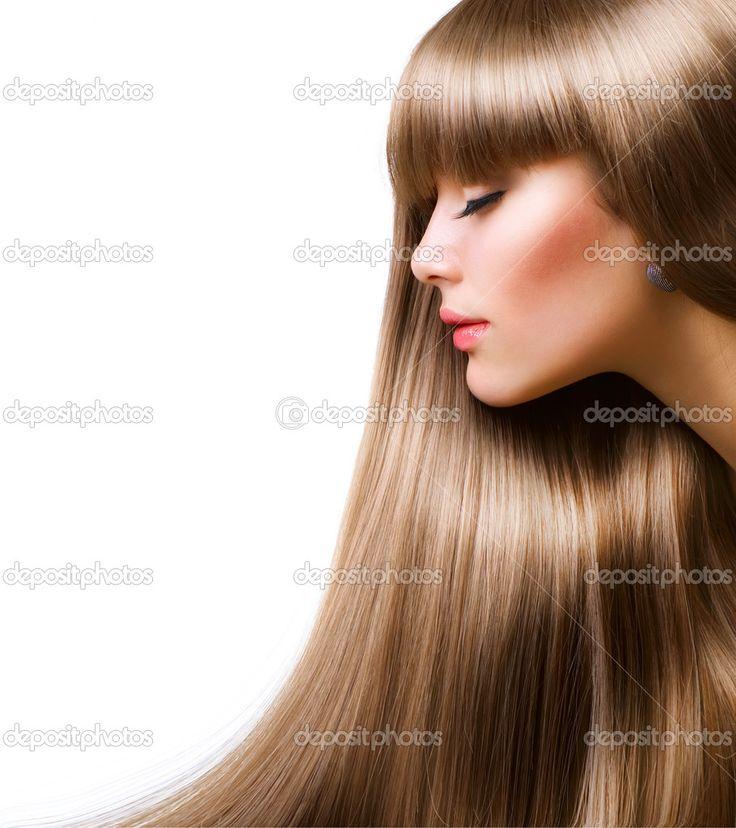 прямые светлые волосы