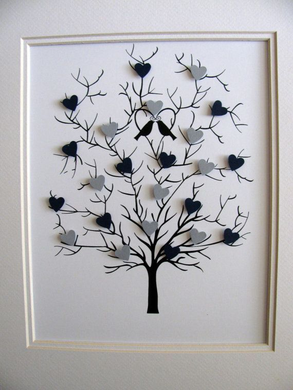 3D Heart Tree 8x10. Wedding. Anniversary. by aboundingtreasures