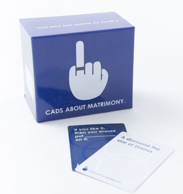 It's like Cards Against Humanity... but about wedding stuff. Awesome for wedding showers.