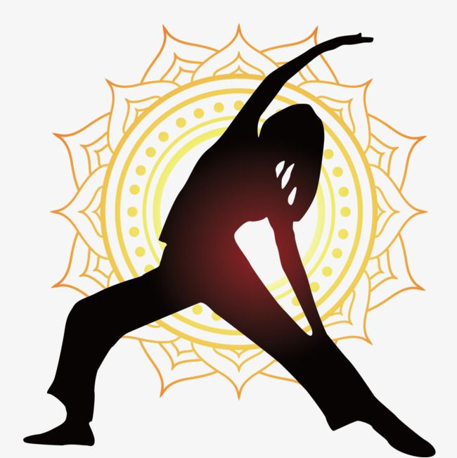 Yoga Pose Silhouette Figures Vector Material Png And Vector Yoga Poses Yoga Png Poses