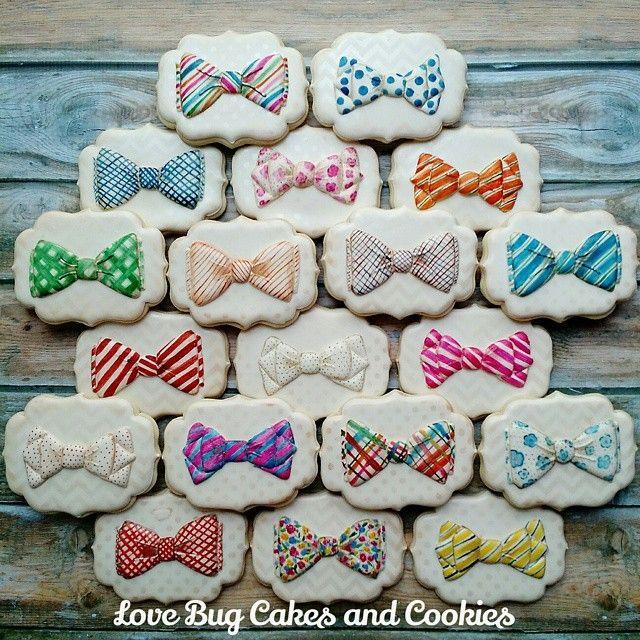 Bow Tie Cookies | Love Bug Cookies