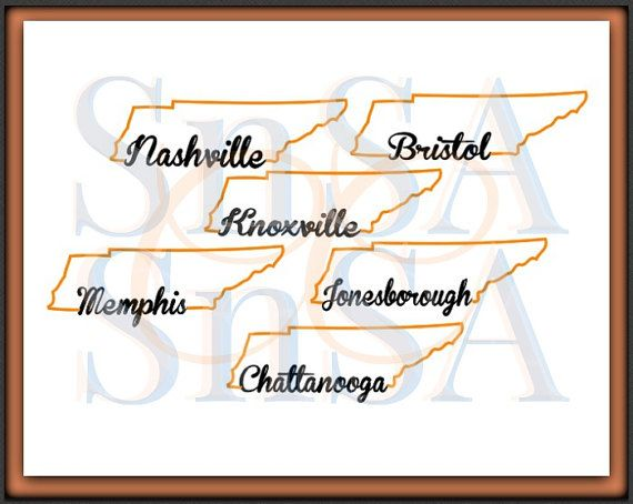 Tennessee svg state outline nashville memphis knoxville jonesborough chattanooga bristol home heart love country sign 18 cricut vinyl decal