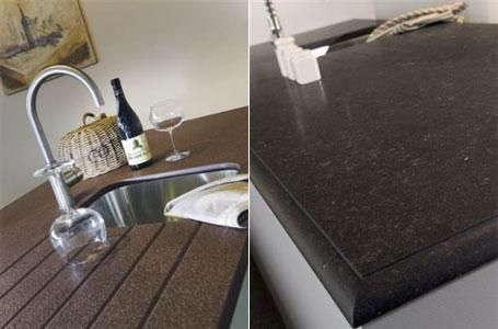 Keukenblad composiet hans keukens keukenwerkbladen pinterest - Witte quartz werkblad ...