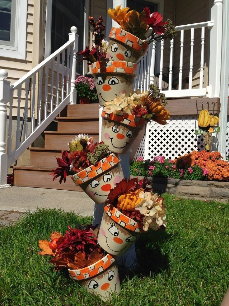 clay pot fall ideas FALL AND HALLOWEEN CLAY POT IDEAS - The Keeper of the Cheerios