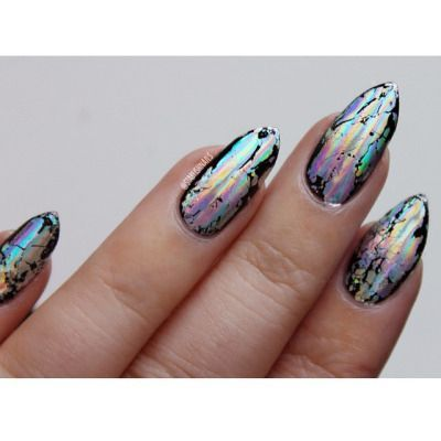 So Metal: 2016's Trend of Shiny, Mirror and Metallic Nails #2 New grunge
