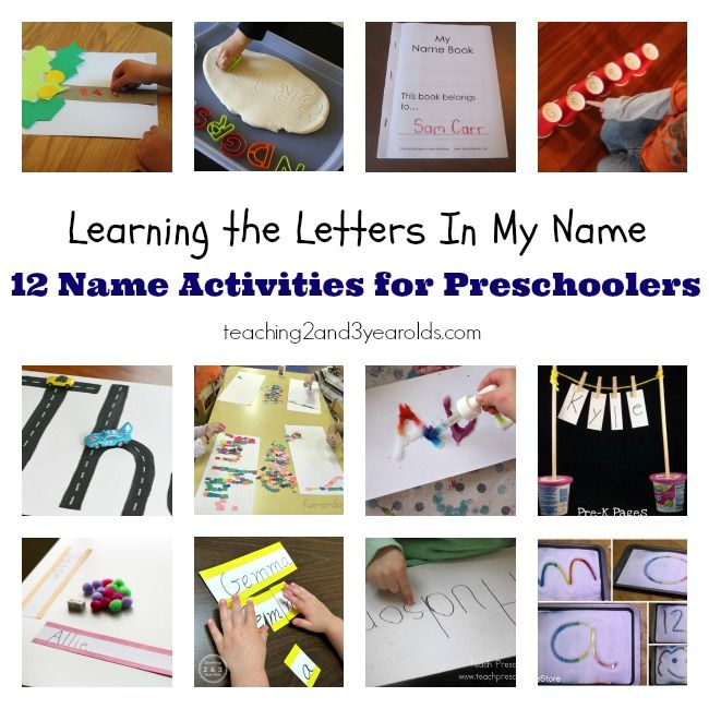Learning the letters in my name: 12 name activities for preschoolers | You can see this and more preschool activities at teaching2and3yearolds.com