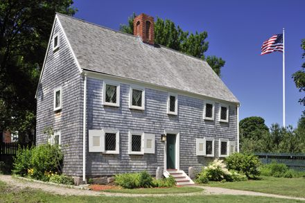 Blake House (c 1661) Dorchester (Boston), Massachusetts. Built in Dorchester which later became part of the City of Boston.[Copyright of William Owens]