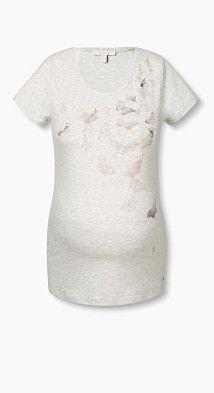 #Esprit #Damen #Melange #T #Shirt mit #Schmetterlings #Print,   #S, #, #8715141355170