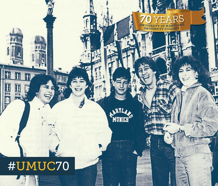 #ThrowbackThursday to the 1980's. These UMUC Europe students are at the UMUC Munich campus taking classes. #umuc70