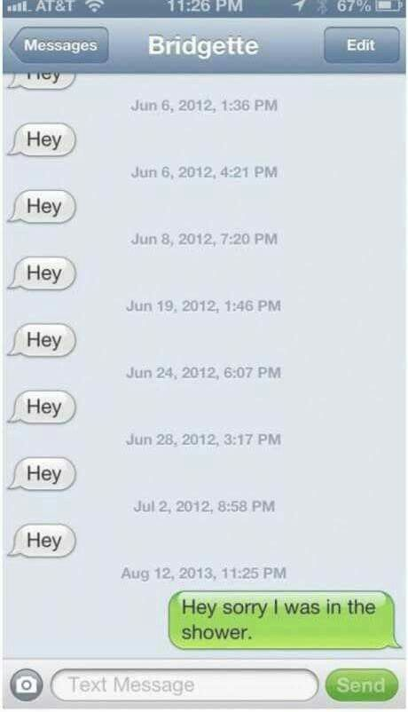 Stalker texts funny