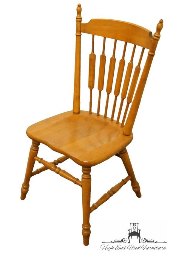 Tell City Solid Maple Cattail Back Dining Side Chair 8034 W 48