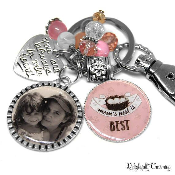 mom keychain personalized personalized gift for mom personalized