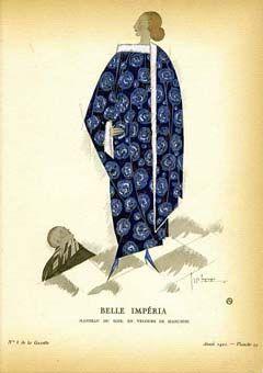 Belle Imperia; Manteau du Soir, en Velours de Bianchini