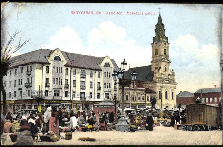 """<a class='trdeflink' href=""""http://postcards.arcanum.hu/hu/71446"""">A Szent László tér a Moskovits palotával</a>,1913"""