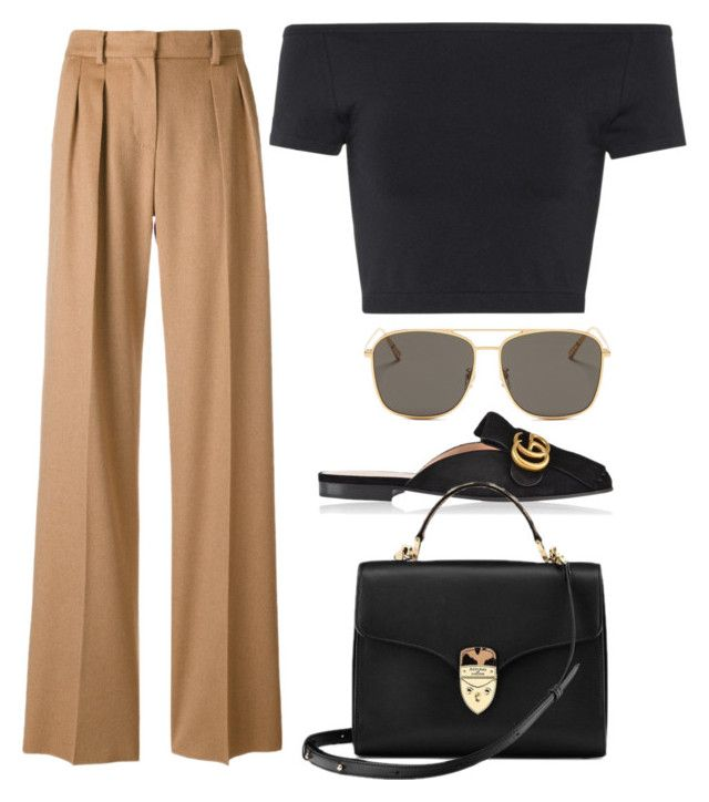 """Untitled #3842"" by camilae97 ❤ liked on Polyvore featuring MaxMara, Helmut Lang, Gucci, Blanc & Eclare and Aspinal of London"