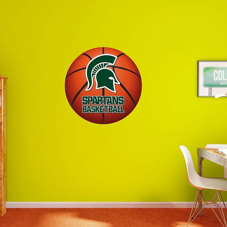 Michigan State Spartans Basketball Logo Wall Decal by Fathead, Multicolor