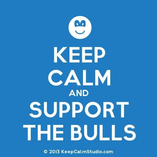 Keep Calm & Support the Bulls!