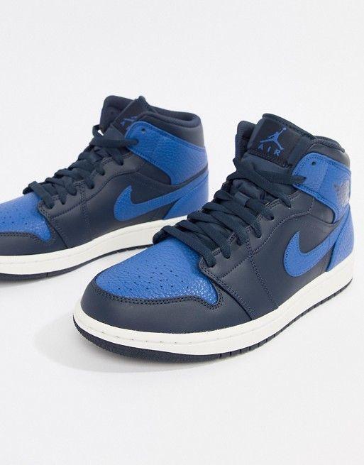 0d0c6fad7ca5d1 Nike Air Jordan 1 Mid Trainers In Blue 554724-412