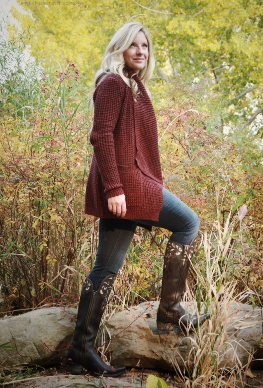 I am in shoe envy. Those are some sweet Ariat boots. <3 Cashmere and Camo rocks the look!