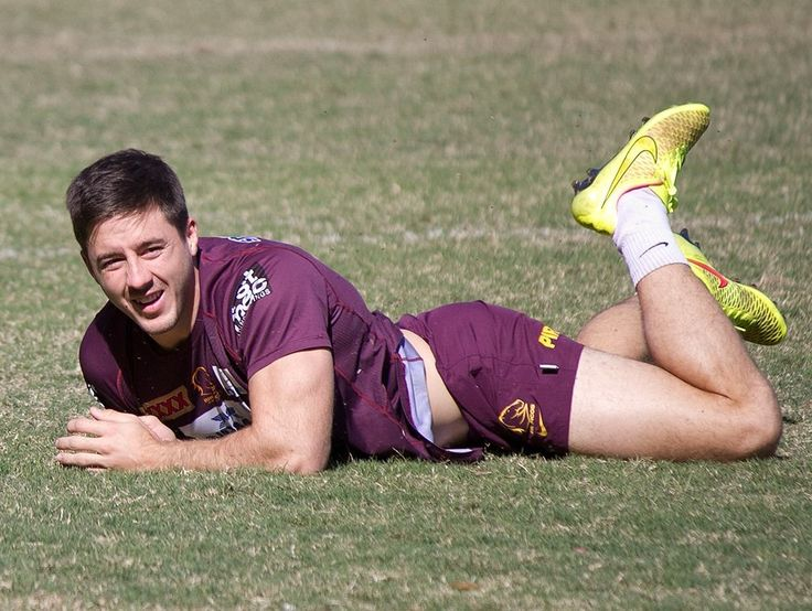 Ben Hunt of the Brisbane Broncos at training looking very fetching