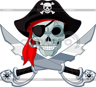 Пиратский череп | Векторный клипарт | ID 3237083