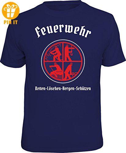 T-Shirt: Feuerwehr Logo: Retten Löschen Bergen Schützen Größe XL - T-Shirts mit Spruch | Lustige und coole T-Shirts | Funny T-Shirts (*Partner-Link)
