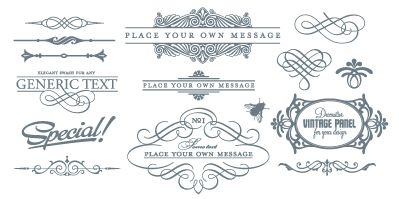 Free vector images and frames.