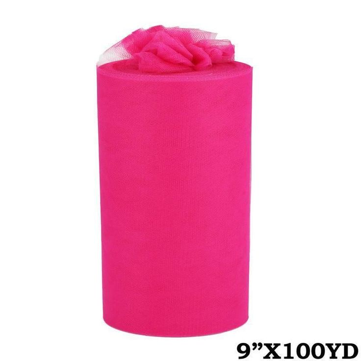 "9""x100yd Tulle Rolls - Fushia 