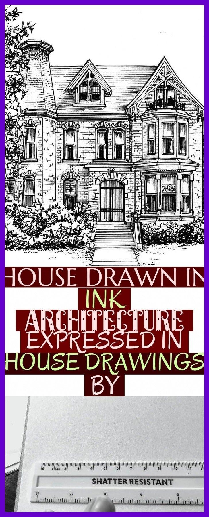 Haus Gezeichnet In Tinten Architektur Ausgedruckt In Den Haus Zeichnungen Vorbei Drawingsarchitecture House Dra Haus Zeichnung Hauser Zeichnen Zeichnungen