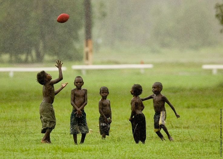 Tiwi Island residents play Australian Rules football at their local oval March 5, 2007