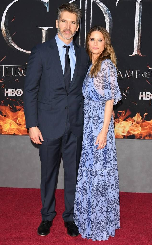 David Benioff with kind, Wife