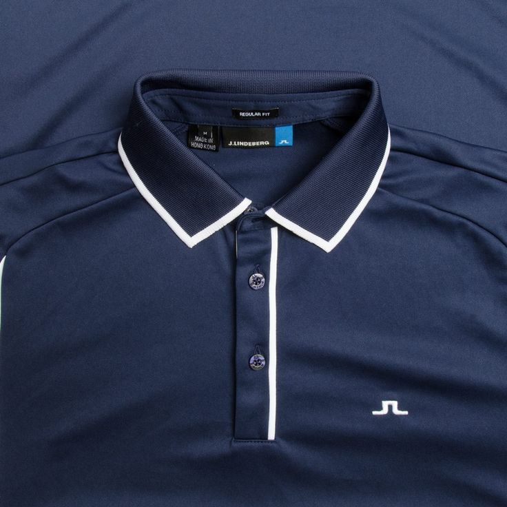 J.Lindeberg M Fredrik TX Jersey+ Navy Purple Available at TrendyGolf