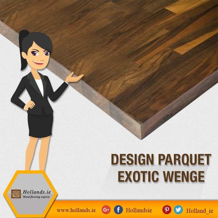 Bring hints of history to your rooms with Design Parquet Exotic Wenge from Hollands.ie. It is an easy to install and cost effective option.  #Flooring #FloorDesigns #InteriorDesigns #HardwoodFloors