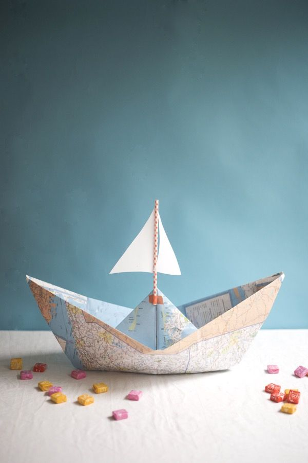 boat craft ideas map boat centerpieces diy oh happy day craft 1148