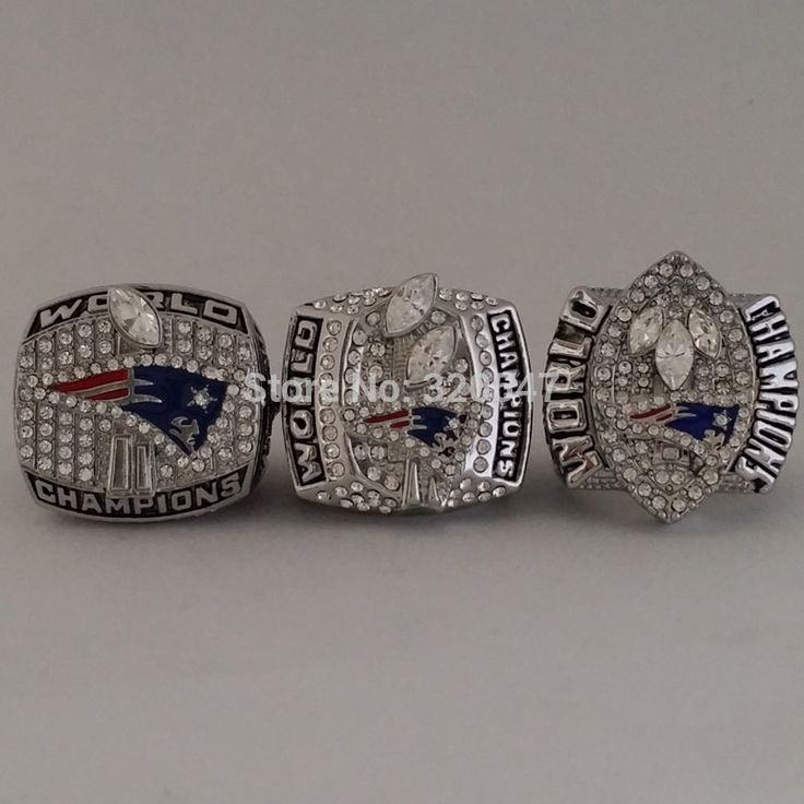 >> Click to Buy << Free Shipping A Set(3 pcs) 2001 2003 2004 New England Patriots Super Bowl Championship Ring Size 11 Best Gift All Solid #Affiliate