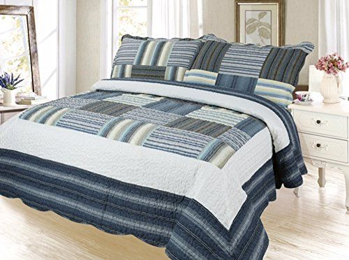 Plaid Printed Bedding 3 Piece Bedspread Quilt Set, Queen,... https://www.amazon.com/dp/B01LXP4EA4/ref=cm_sw_r_pi_dp_x_PLXSyb9QZVWQ1