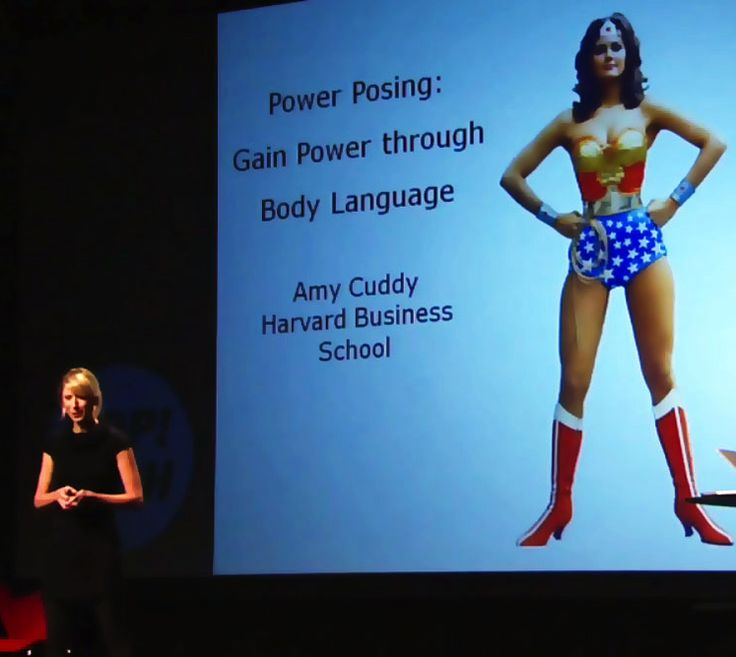"""Give yourself 21 minutes to watch this empowering TEDTalk lecture. Amy Cuddy shows how """"power posing""""—standing in a posture of confidence, even when we don't feel confident—can affect testosterone and cortisol levels in the brain, and might even have an impact on our chances for success."""