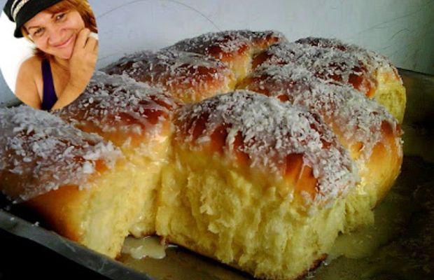 Pão doce com leite de coco na massa (joana pães) - cozinha dos amigos - Tuasreceitas.com.br