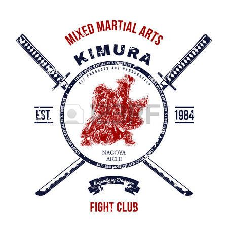 samourai: Fight Club Grunge impression avec des épées de samouraï. Vector illustration Illustration