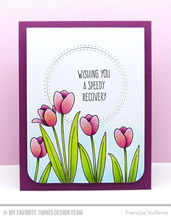 Blueprints 18 Die-namics, Blueprints 24 Die-namics, LJD Spring Tulips, LJD Whimsical Greetings - Francine Vuillème #mftstamps