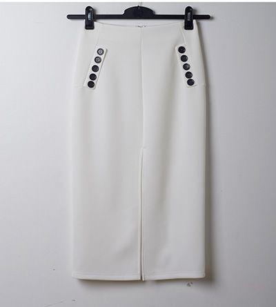sailor button skirt
