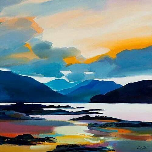 Pam Carter, Scottish artist............ It must be up the Isles in the Firth of Clyde.