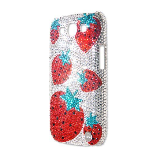 Strawberry Swarovski Crystal Samsung Galaxy S3 i9300 Cases Ingredient Branding Partner With Swarovski. Made With SWAROVSKI ELEMENTS. Each Crystal Is 109% Hand Set By Skilled Craftsman. Adhesive Glue Is RoHS Compatible. Presented In Premium Gift Set, includes Packing Box, Cleaning Cloth, Superior Soft Pouch, Product Tag, Product Certification.  #PlayBling #Wireless