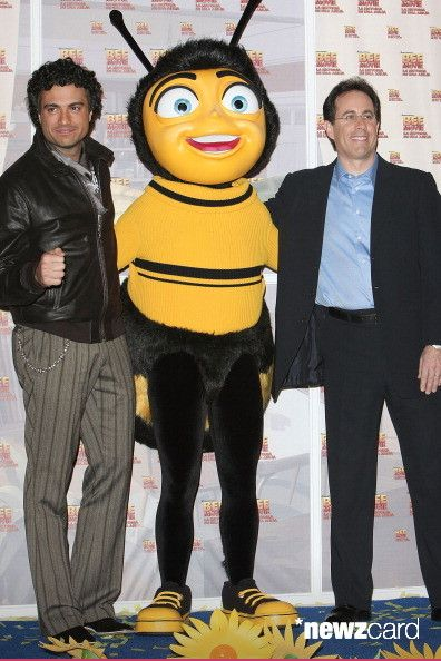 Jaime Camil and Jerry Seinfeld at the Mexico City Premiere of 'Bee Movie' held at Cinemex Antara Polanco on November 13, 2007 in Mexico City, Mexico. (Photo by Victor Chavez/WireImage)