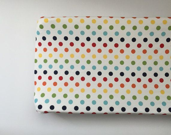 Changing Pad Cover  Riley Blake Medium Dots by LullabiesLollipops